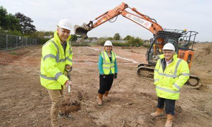 Tiverton start of work on site
