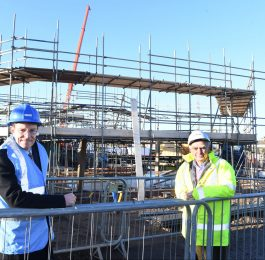Andy Street visits Coventry construction site